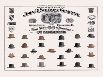 John B Stetson Company Stetson hats or Stetsons are the ... 6cebfa83354