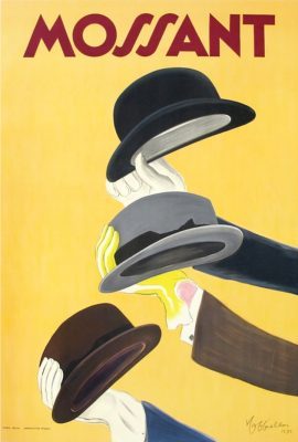 hat themed poster collecting french poster mossant
