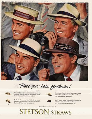 collecting vintage hat advertisements stetson straws
