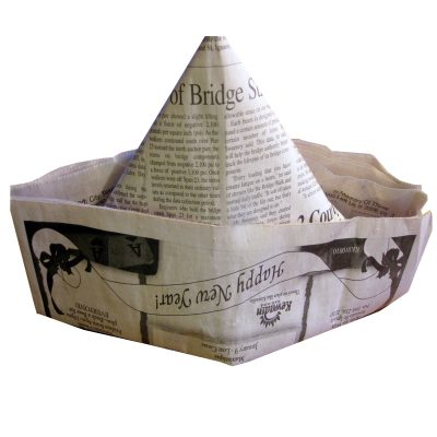paper hat made from newspaper